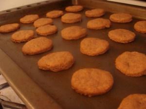 Drunken cookies on a baking sheet