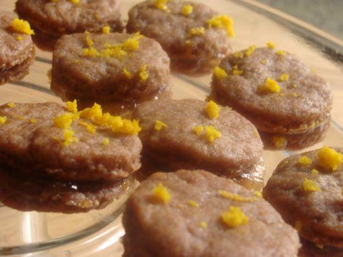 Drunken orange cookies with orange sugar glaze on a plate