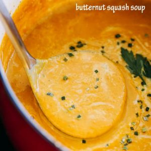 Butternut Squash Soup - Simple, the BEST EVER Butternut Squash Soup! You're just a few ingredients away from this incredibly delicious, comforting, and healthy soup.