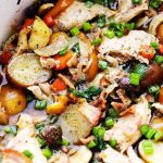 Slow Cooker Coq au Vin (Chicken in Wine)