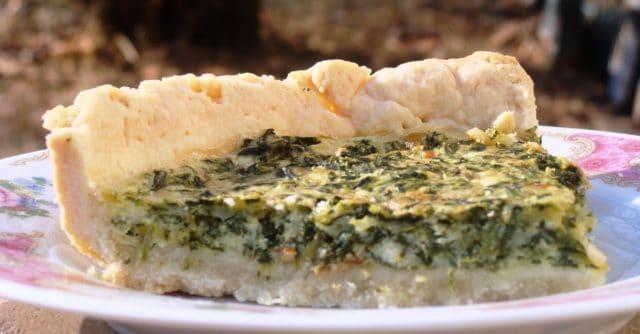 Spinach Quiche Slice