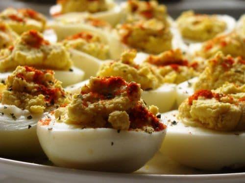 Deviled Eggs on a platter