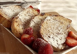DSC01274 300x211 Savory Feta Cheese French Toast