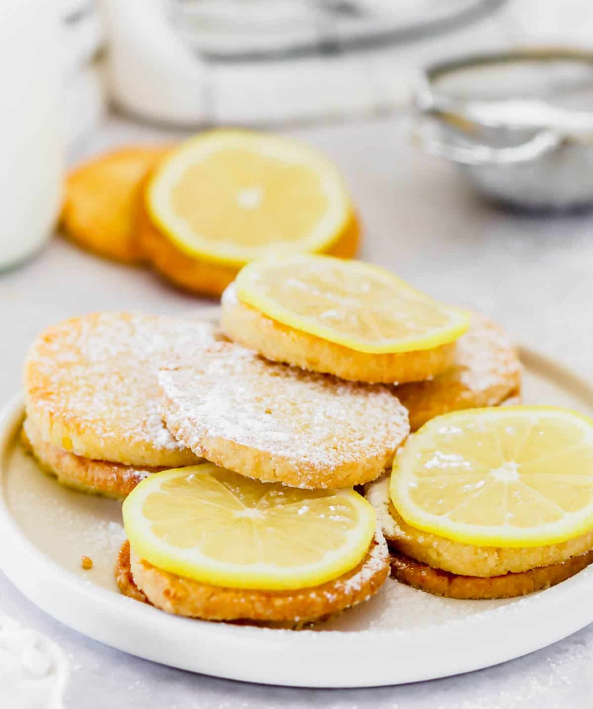 A plate of lemon cookies