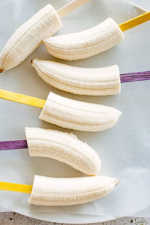 Bananas on sticks.