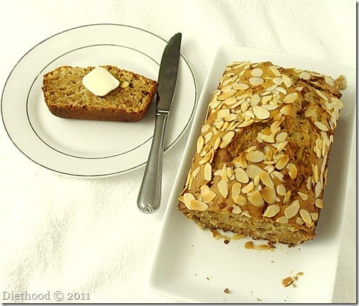 coconut banana nut bread