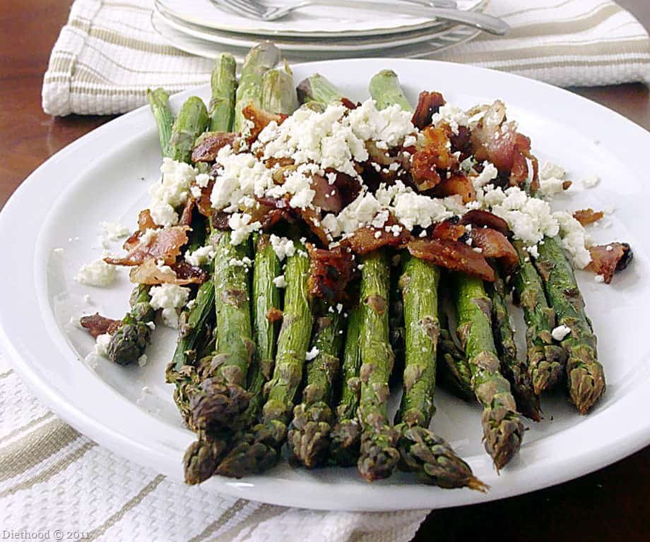Roasted Asparagus with Bacon and Feta Cheese – Delicious asparagus ...