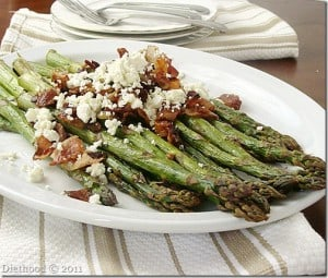 DSC03494 thumb 300x255 Pan Roasted Asparagus Almondine
