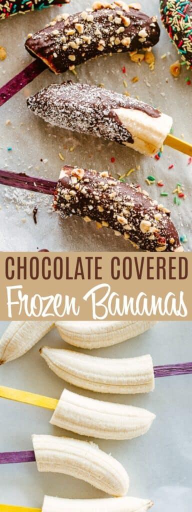 Chocolate Frozen Bananas Pin Image