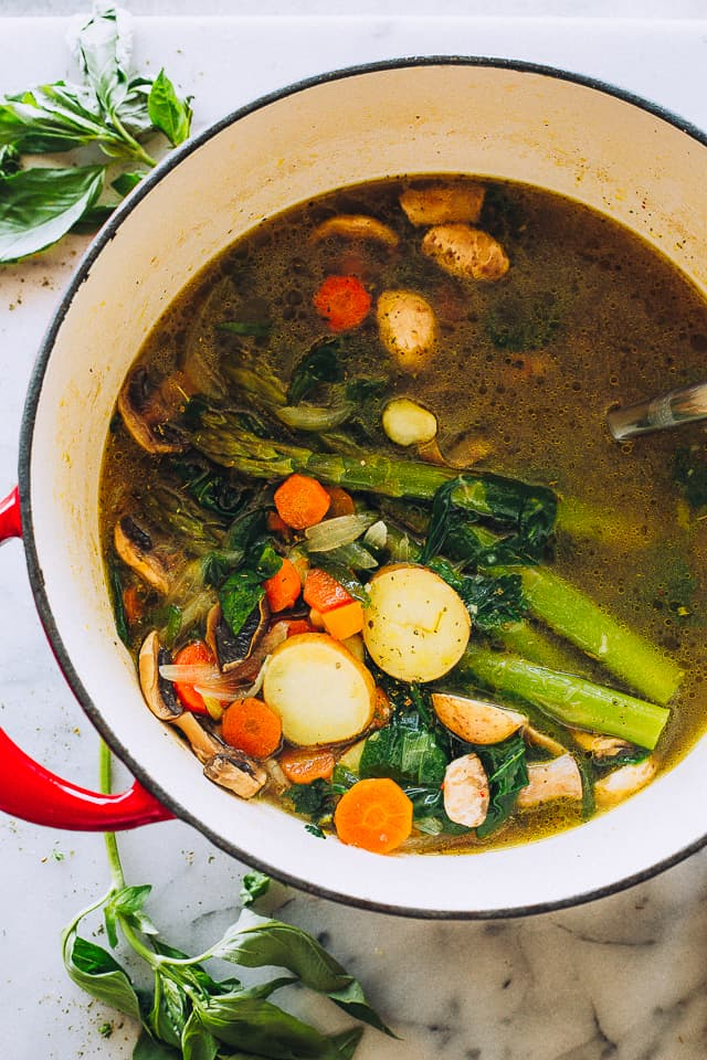 Vegetable Soup in a Pot