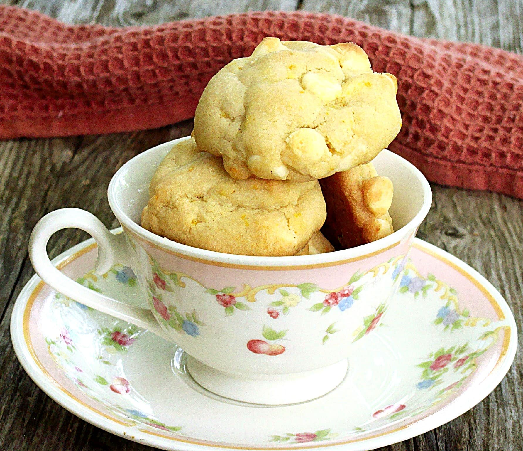 ... contain two of her favorite ingredients; white chocolate and oranges