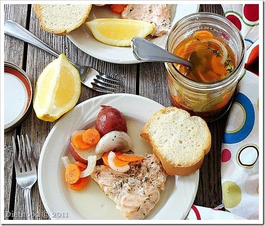 Salmon and Potatoes in a Jar