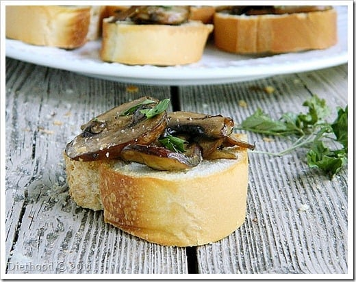 DSCN0892 thumb Back to the Roots: Mushroom Bruschetta and a Giveaway!