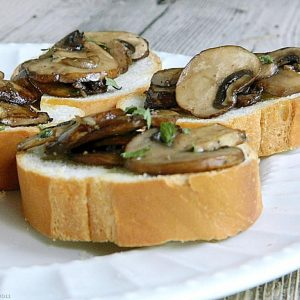 Back to the Roots: Mushroom Bruschetta and a Giveaway!