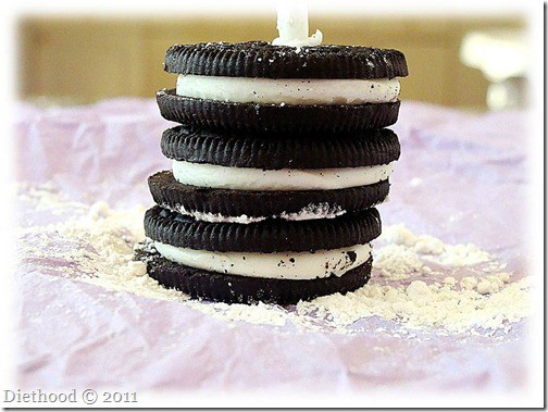 oreos thumb Chocolate Mug Cake {Happy Birthday}