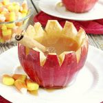 Spiked Apple Cider in Apple Cups