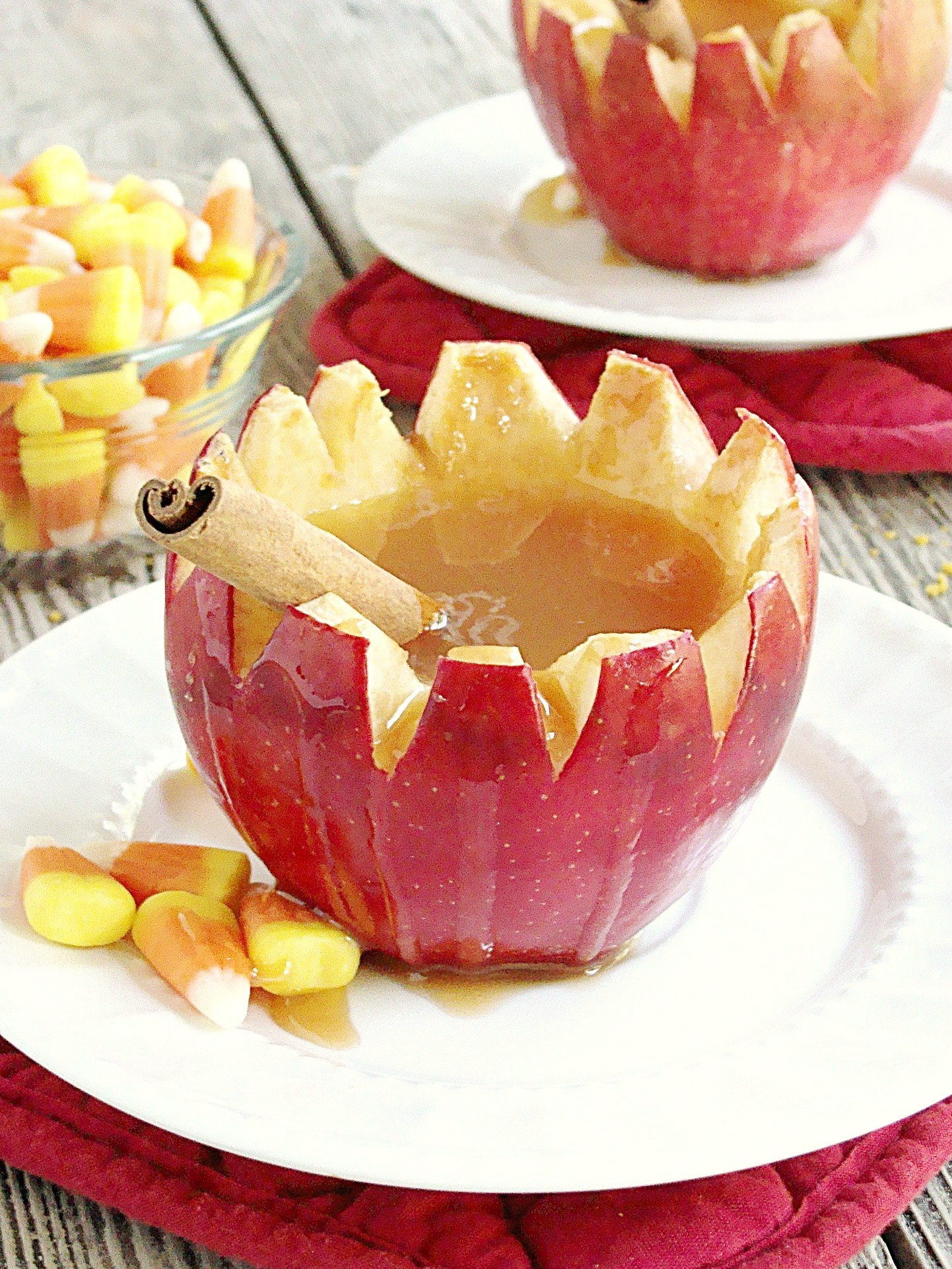 Spiked Apple Cider in Apple Cups | Diethood
