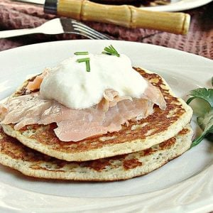 French Fridays with Dorie: Buckwheat Blini with Smoked Salmon and Crème Fraîche