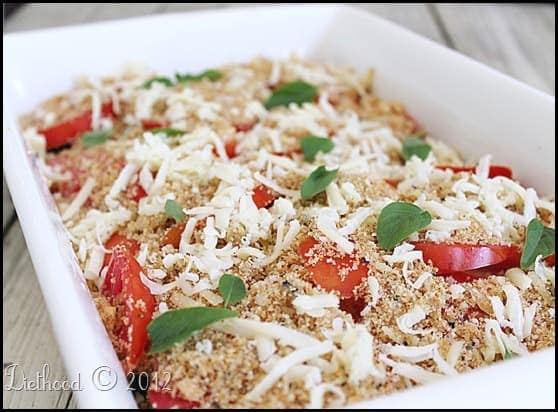 zucchini tomato bake diethood.com