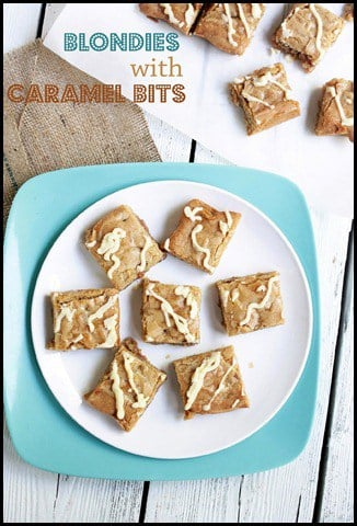 blondies with caramel via diethood