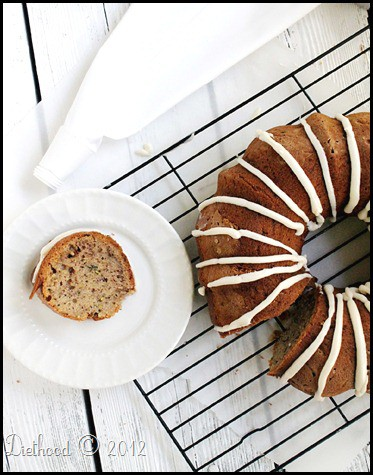 bundt 3edited thumb #BundtaMonth: Zucchini and Banana Bundt Cake with Maple Cream Cheese Frosting