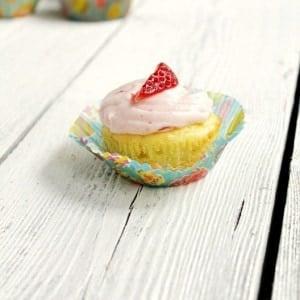 Ana's Yogurt Cupcakes with Strawberry Cream Cheese Frosting