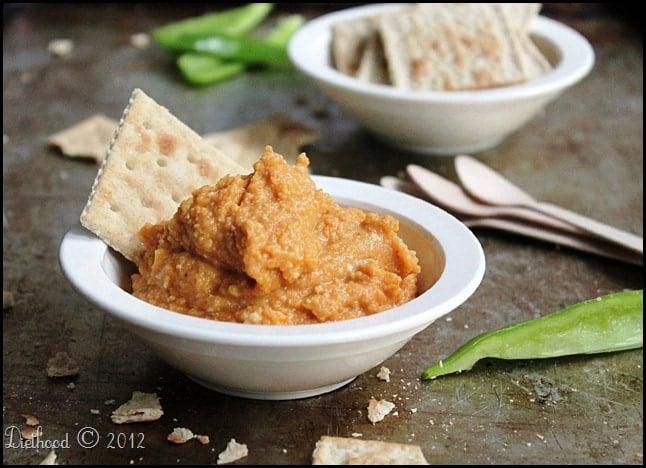 Pumpkin Hummus Dip @diethood
