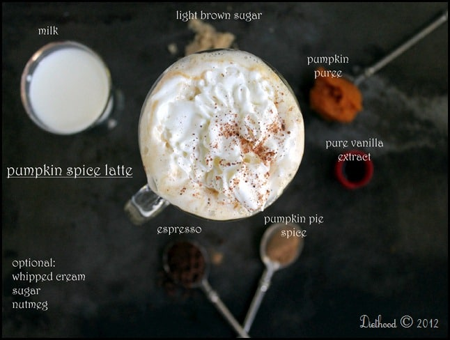 Pumpkin Spice Latte - Make Your Own Starbucks Pumpkin Spice Latte at home! SO easy, SO delicious homemade Pumpkin Spice Latte without all the artificial flavors and colors.
