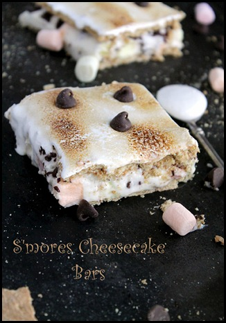 s'mores cheesecake bars via diethood.com