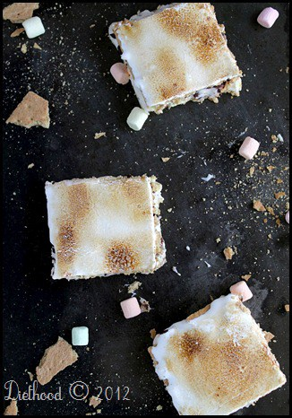 S'mores Cheesecake Bars   @diethood