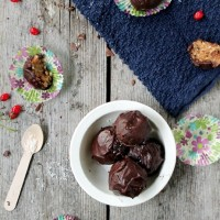 German Chocolate Cake Bites #cake #chocolate #recipe