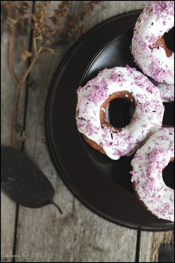 Chocolate Doughnuts with Marshmallow Fluff and Shredded Coconut | diethood.com