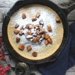 Dutch Baby Pancake with Fried Apples