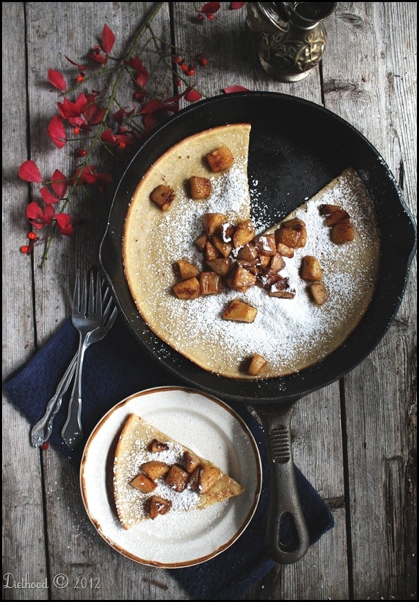 Dutch Baby Pancake with Fried Apples @diethood