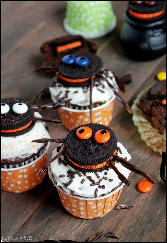 Spider Oreo Cupcakes diethood.com
