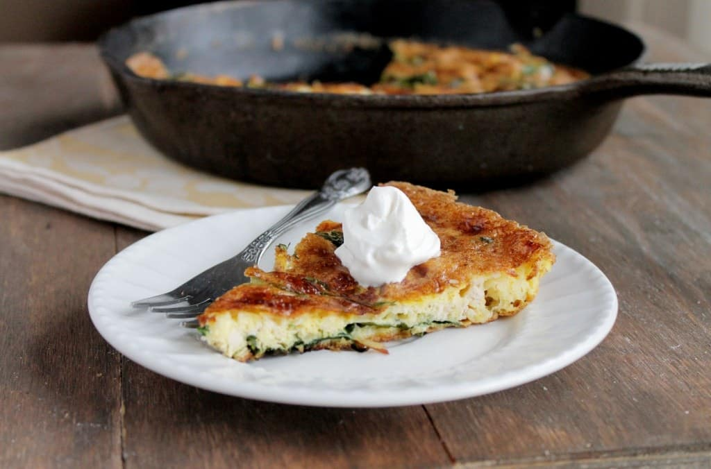 Leftover Turkey Frittata with Spinach 1024x676 Leftover Turkey Frittata