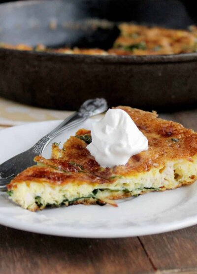 Leftover Turkey Frittata with Spinach and Mozzarella @diethood