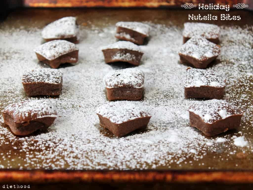 Holiday Nutella Bites @diethood #holidays #christmas #nutella