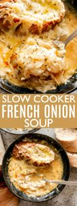slow cooker french onion soup pin image