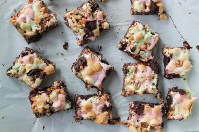 Rocky Road Brownies from Diethood