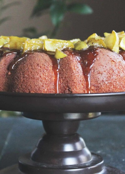 Caramel Apple Spice Bundt Cake from Diethood