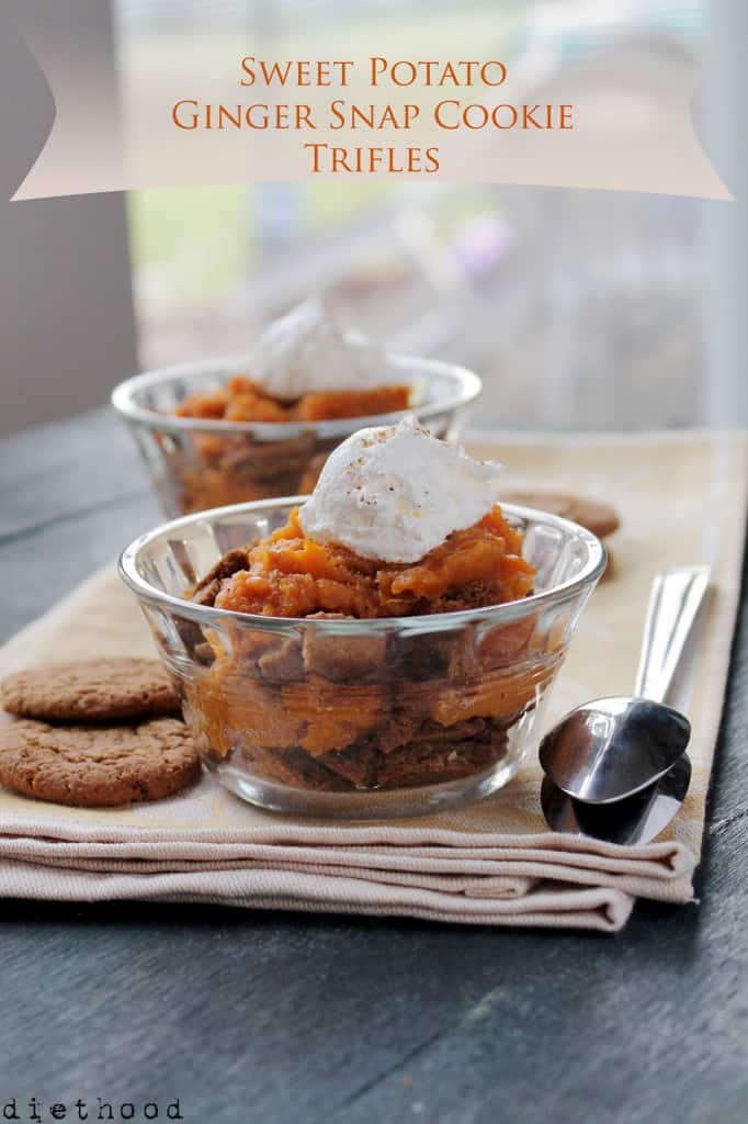 Sweet Potato Ginger Snap Cookie Trifles @diethood