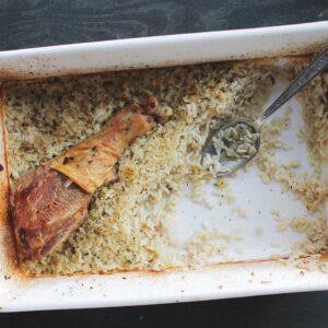 Turkey Legs & Rice Casserole
