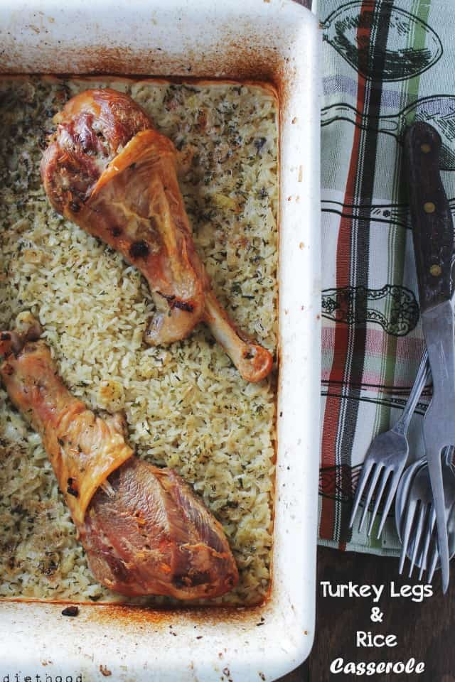 Turkey Legs & Rice Casserole @diethood