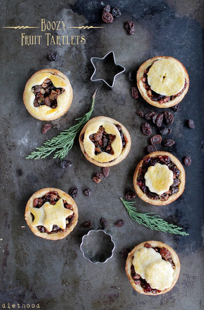 Boozy Fruit Tartlets @diethood | www.diethood.com | #tart #booze #fruit #Christmas #Holidays #bake #recipe