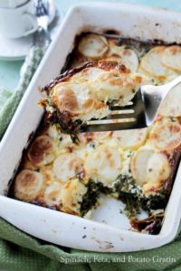 Picture of Spinach, Feta and Potatoes Au Gratin