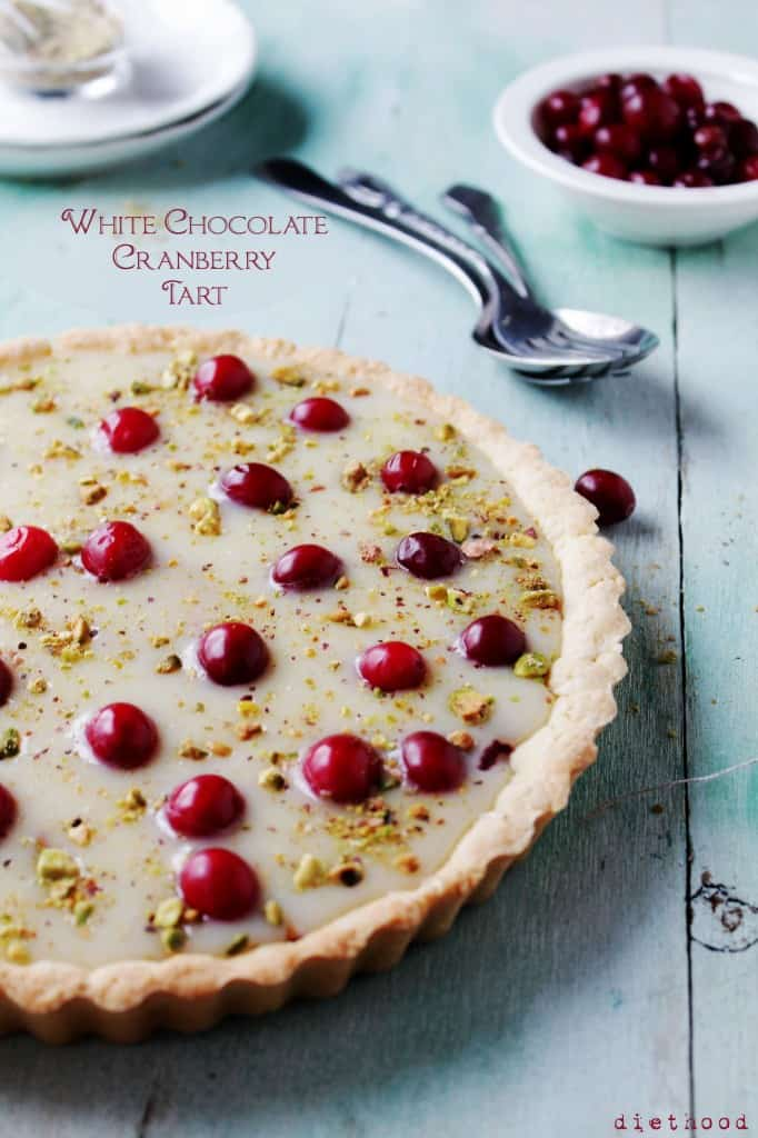 White Chocolate Cranberry Tart 1 @diethood 682x1024 Christmas Cookie Round Up