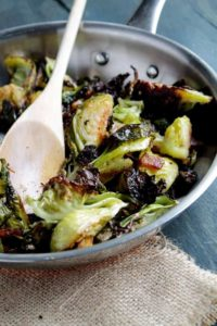 Roasted Brussels Sprouts with Bacon | Easy Brussel Sprouts Recipe