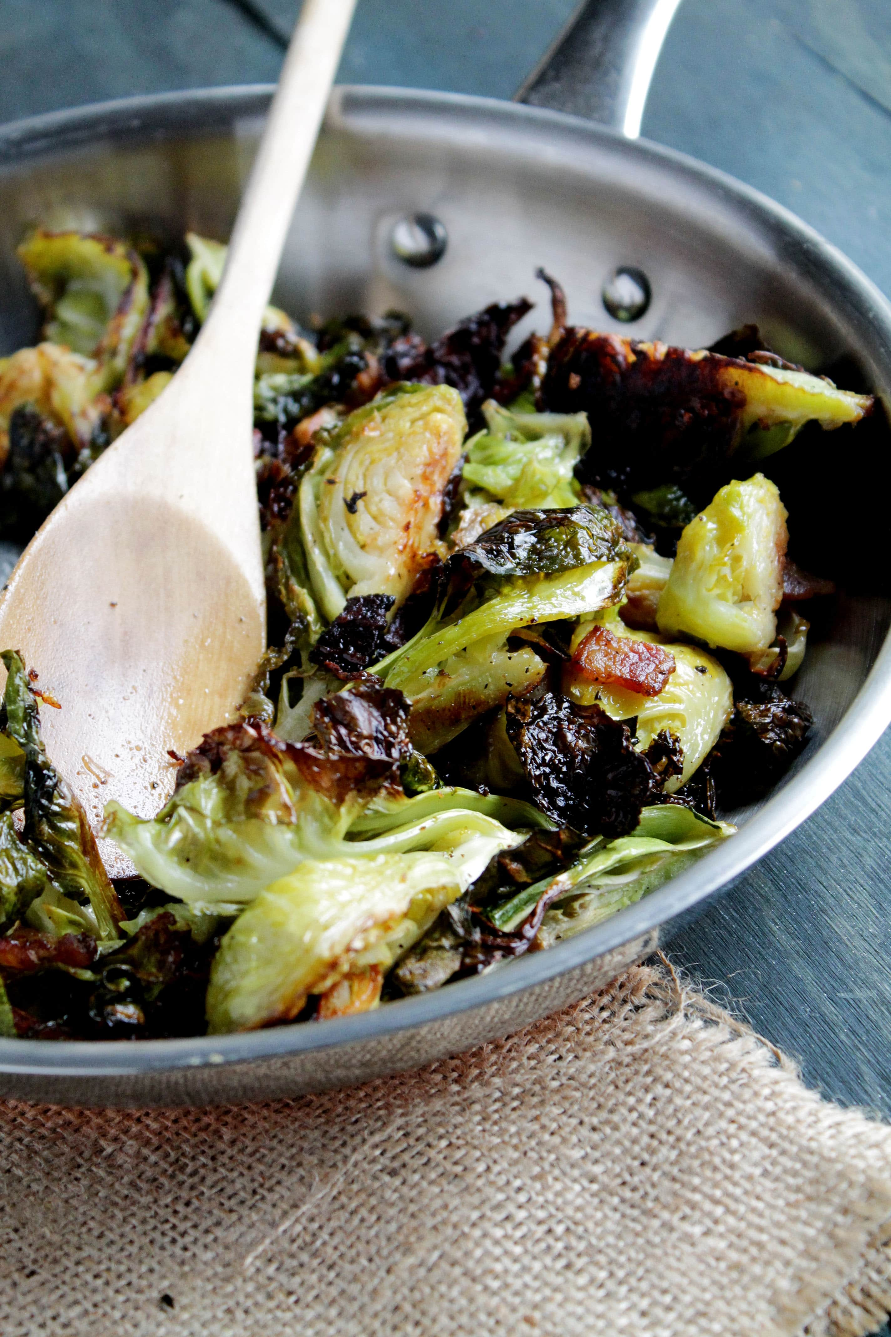 Roasted Brussels Sprouts With Bacon Thanksgiving Side Dish