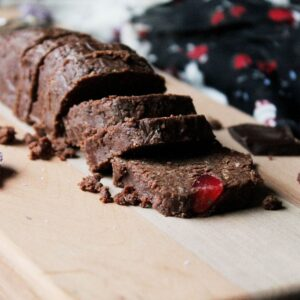 No Bake Chocolate Cookies with Candied Fruit Slices